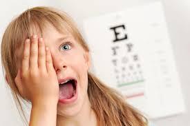 Little girl eye chart