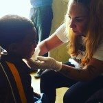 Celina Ethiopia child eye exam