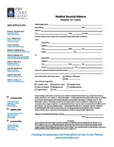 medical records request form - Medical Records Request Form