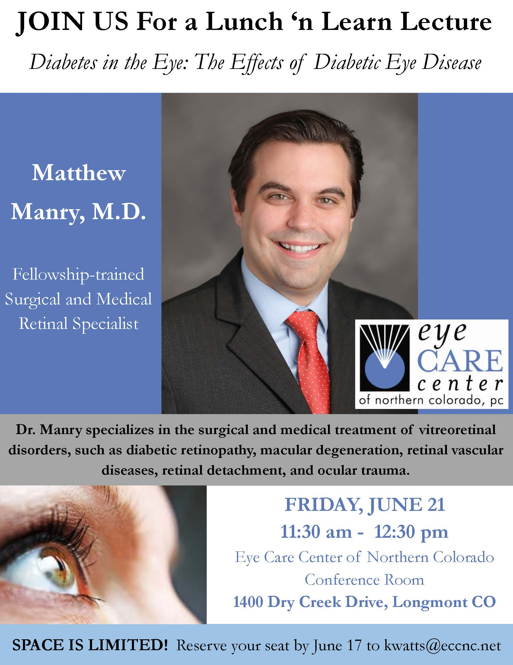 Boulder Eye Care & Surgery Center Doctors June 2019 Diabetes in the Eye - Lunch 'n Learn